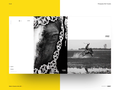 Kuvat - Photography Web Template - 02 landing interaction web design ui clean minimal layout typography swiss photography photographer studio template