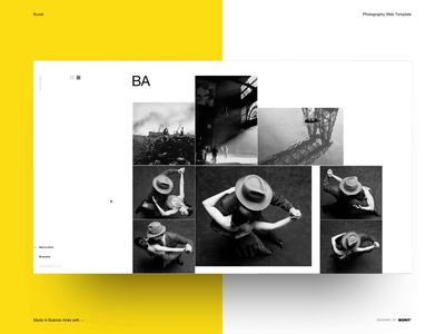 Kuvat - Photography Web Template - 04 landing interaction web design ui clean minimal layout typography swiss photography photographer studio template