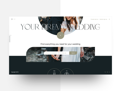 Wedding web site web design app design landing typography flat interaction design ux ui