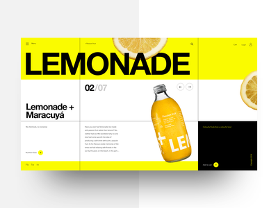 Refresh drink shop grids flat landing page web design typography helvetica neue interaction design ux ui