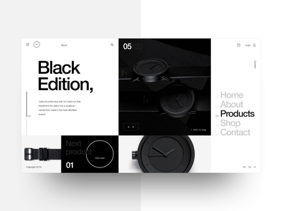 Watch shop minimal web design helvetica neue typography eccomerce landing flat interaction design ux ui