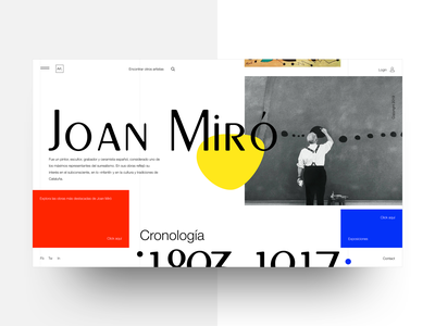 Artists' Website - 01 grids design interaction color web design art landing typography flat ux ui