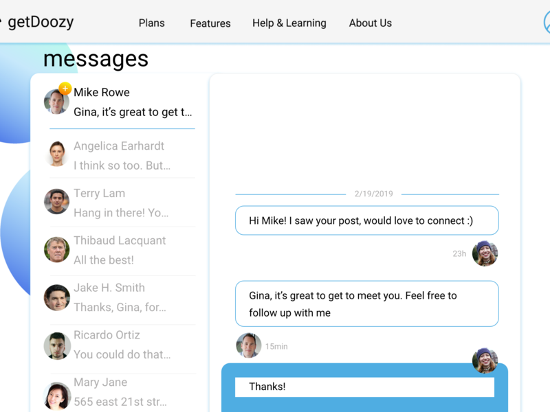Daily UI 013: messaging feature social network messaging message