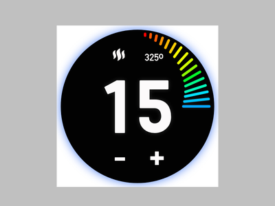 Daily UI 14: Countdown timer cooking temperature oven timer countdown timer