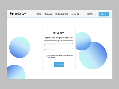 Daily UI 16: Pop-up onboarding overlay pop-up sign up sign-up