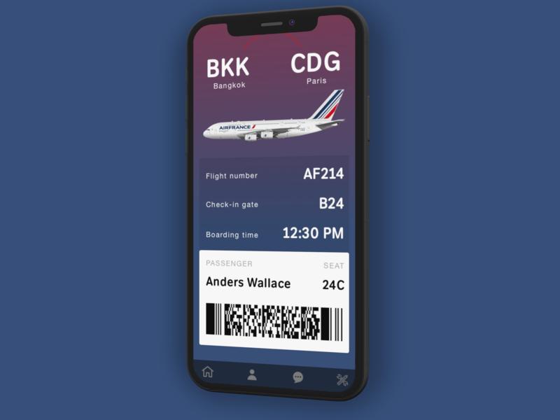 Daily UI 24: boarding pass boarding pass
