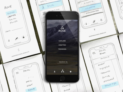 Rove landing page make travel social travel app travel rove
