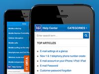 1&1 Help Center Mobile Website (DE)