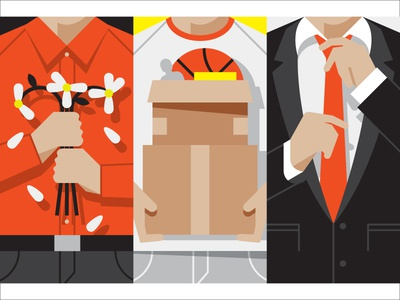Mystery Project 30 dkng vector series man men flowers suit boxes magazine illustration dan kuhlken nathan goldman