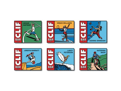 Clif Bar Enamel Pins mountain biking mountain bike surfing skateboarding rock climbing tennis soccer women woman athlete clif bar enamel pins enamel pin pins vector dkng nathan goldman dan kuhlken