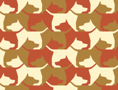 Mystery Project 99 tessellation pattern dog illustration icon geometric dkng studios vector dkng nathan goldman dan kuhlken