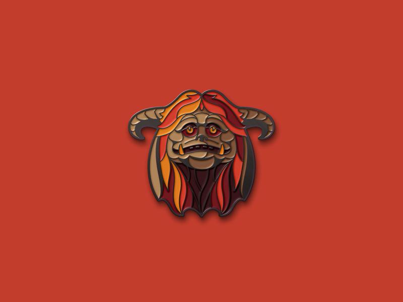 Labyrinth: Ludo Pin brooch enamel pins enamel pin jim henson labyrinth ludo dkng studios vector dkng nathan goldman dan kuhlken