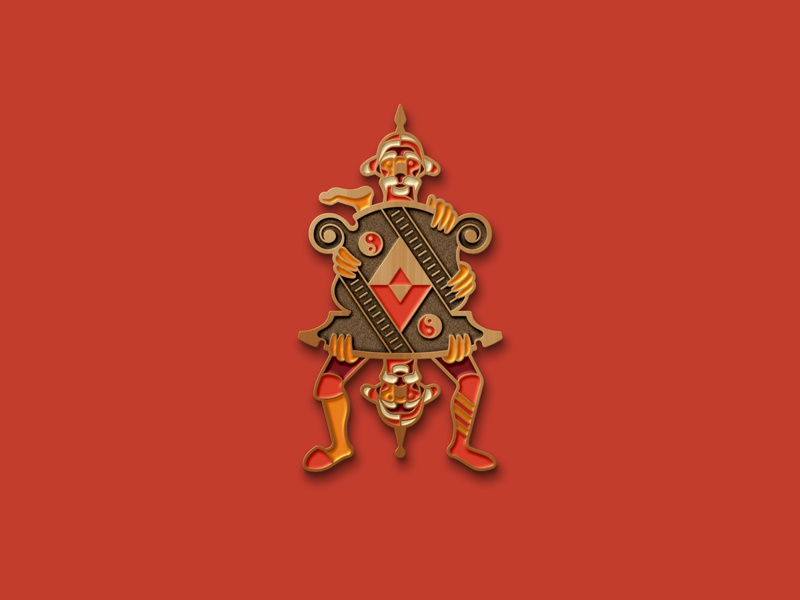 Labyrinth: The Guards Pin metal enamel pins enamel pin brooch jim henson labyrinth guards guard geometric dkng studios vector dkng nathan goldman dan kuhlken