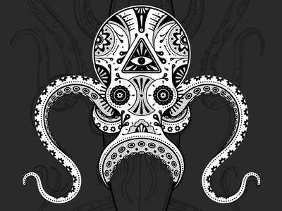 Mystery Project 42.2 dkng vector octopus tentacles dan kuhlken nathan goldman day of the dead skull candy dia de los muertos