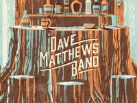 DMB Alpine Valley Poster dkng bottle bar alcohol tree trunk typography dan kuhlken nathan goldman dave matthews band