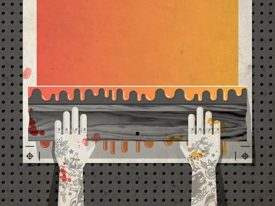 Flatstock 41 vector dan kuhlken nathan goldman dkng hand tattoo screenprint ink paper flatstock drip