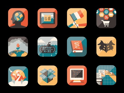 Mystery Project 46 dkng vector icons book ipad computer marketing submarine globe flag dan kuhlken nathan goldman