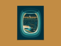 Mainland enamel pin pin frame window airplane window airplane city texture illustration silkscreen screen print geometric poster dkng studios vector dkng nathan goldman dan kuhlken