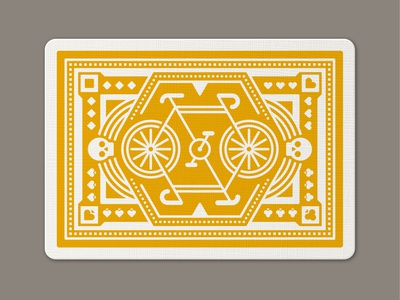 DKNG 'Yellow Wheel' Playing Cards ace jack joker queen king bicycle deck yellow wheels yellow wheel yellow playing cards dkng studios vector dkng nathan goldman dan kuhlken