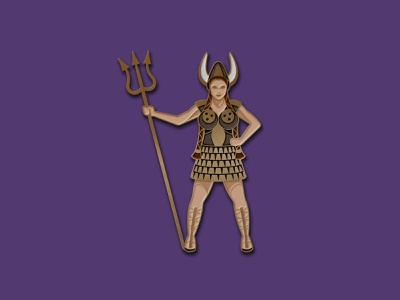 Maude Enamel Pin the big lebowski big lebowski maude viking illustration geometric dkng studios vector dkng nathan goldman dan kuhlken