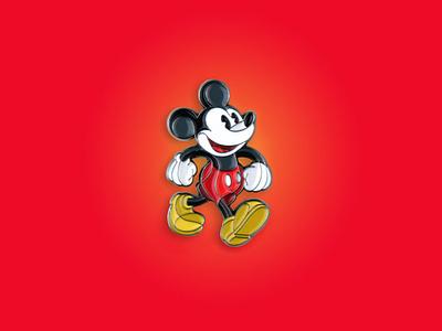 Classic Mickey Mouse Enamel Pin enamel pin pin disney mickey mickey mouse dkng studios dkng nathan goldman dan kuhlken