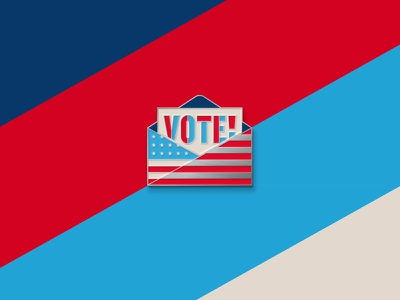 Limited Edition VOTE! Enamel Pin pin enamel pins enamel pin vote united states of america unitedstates flag icon illustration geometric dkng studios vector dkng nathan goldman dan kuhlken