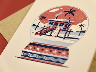 'Home for the Holidays' Letterpress Greeting Cards winter snow globe pueblo adobe beach cabin card greeting card design letterpressed letterpress greeting cards greeting card design illustration geometric dkng studios vector dkng nathan goldman dan kuhlken