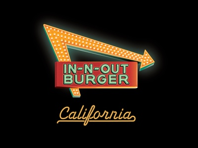 In-N-Out Burger 2021 Official T-Shirt clouds stars sunset palm trees palm tree plymouth gto gto pontiac t-shirt shirt burger in-n-out neon sign neon illustration dkng studios vector dkng nathan goldman dan kuhlken
