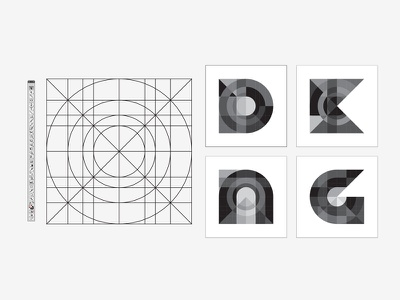 Mystery Project 50 dkng vector geometric grid circle square dan kuhlken nathan goldman guidelines guides illustrator typography