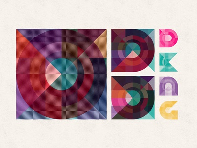 Mystery Project 50.1 multiply typography dkng vector geometric grid circle square dan kuhlken nathan goldman geometry