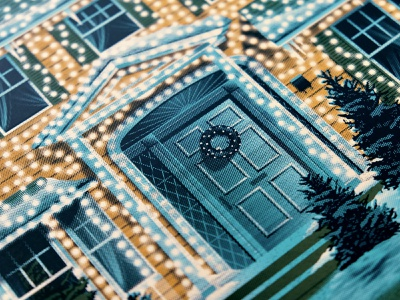 National Lampoon's Christmas Vacation Posters national lampoons christmas vacation christmas illustration silkscreen screen print poster dkng studios vector dkng nathan goldman dan kuhlken