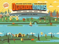 Outside Lands 2014 Branding