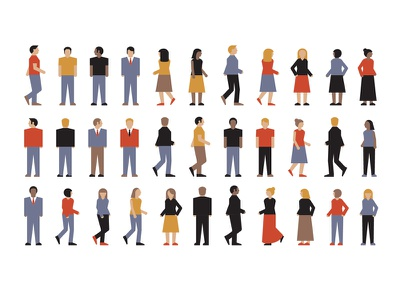 Mystery Project 52 dkng vector geometric people women men man woman person crowd dan kuhlken nathan goldman