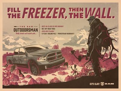 The 2014 Ram Outdoorsman dkng vector car truck ram hunter texas bow clouds dan kuhlken nathan goldman
