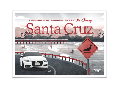The All New Audi A3 - Santa Cruz dkng vector car audi ocean slug bridge dan kuhlken nathan goldman santa cruz board walk