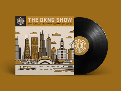 The DKNG Show (Episode 37) cityscape chicago the dkng show podcast adventures in design vinyl city illustration geometric dkng studios vector dkng nathan goldman dan kuhlken
