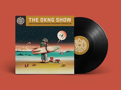 The DKNG Show (Episode 38) podcast adventures in design stars beach ocean moon galaxy plent saturn rocket vinyl space dkng studios vector dkng nathan goldman dan kuhlken