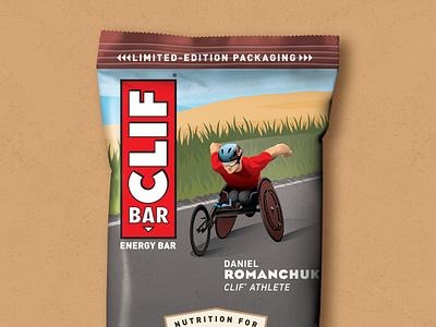 Daniel Romanchuk Clif Bar Illustration packaging clif bar daniel romanchuk olympics wheelchair texture illustration dkng studios vector dkng nathan goldman dan kuhlken