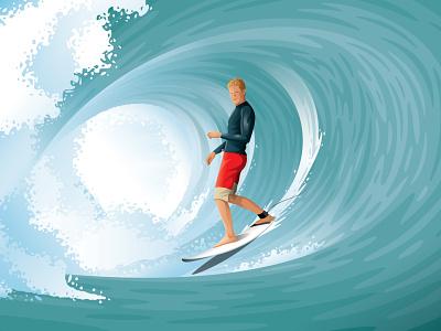 John John Florence Clif Bar Illustration barrel ocean packagedesign packaging clif bar john john florence wave surf surfer illustration dkng studios vector dkng nathan goldman dan kuhlken