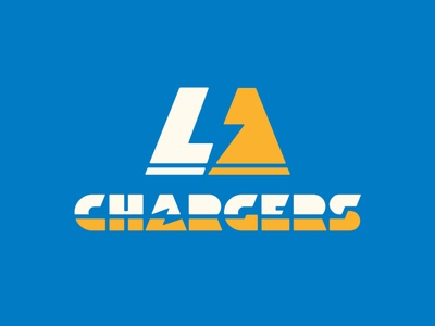 Super Design Bowl L.A. Chargers Logo chargers sports branding sports logo icon geometric dkng studios vector dkng nathan goldman dan kuhlken
