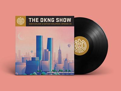 The DKNG Show (Episode 40) illustration sunset new york cityscape city vinyl podcast adventures in design design geometric vector dkng nathan goldman dan kuhlken