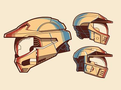 Mystery project 54 dkng vector geometric propaganda halo helmet dan kuhlken nathan goldman