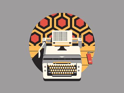 All Work and No Play... dkng shining typewriter carpet key icon poster dan kuhlken nathan goldman the shining room 237 geometric