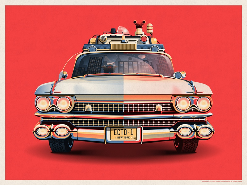 Ghostbusters 30th Anniversary Ecto-1 dkng vector car ecto-1 ghostbusters dan kuhlken nathan goldman new york