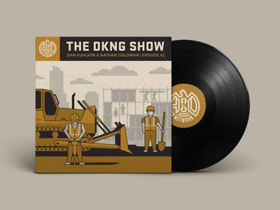 The DKNG Show (Episode 42) vinyl podcast mark brickey adventures in design aid construction geometric dkng studios vector dkng nathan goldman dan kuhlken