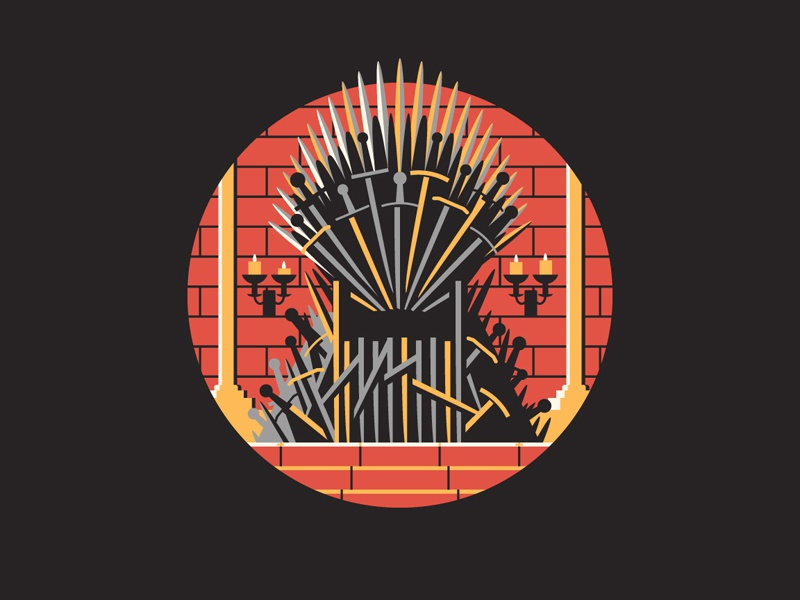 Winter is Coming dkng vector got icon medieval throne dan kuhlken nathan goldman iron throne game of thrones