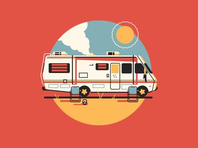 Let's Cook dkng vector icon rv trailer sun desert dan kuhlken nathan goldman mobile home breaking bad