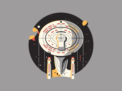 Space, the Final Frontier dkng vector icon enterprise space planet moon stars spaceship dan kuhlken nathan goldman star trek