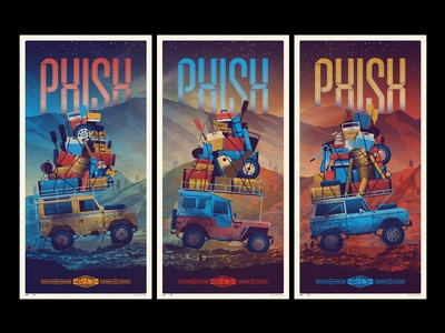 Phish // Commerce City, CO Triptych