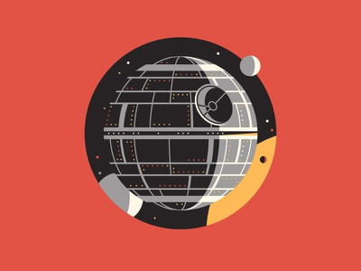 The Empire dkng vector icon starwars deathstar planet sun stars space dan kuhlken nathan goldman the dark side